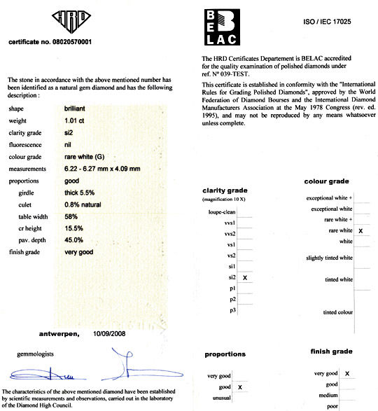 Foto 9, Brilliant 1,01ct HRD feines Weiss G SI2 Brillant Juwel!, D5001