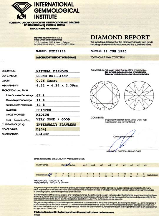Foto 9, Der Beste Diamant 0,26 ct IGI Lupenrein River D, Juwel!, D5011