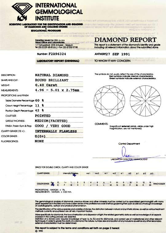 Foto 9, Der Beste Diamant 0,40 ct IGI Lupenrein River D, Juwel!, D5017