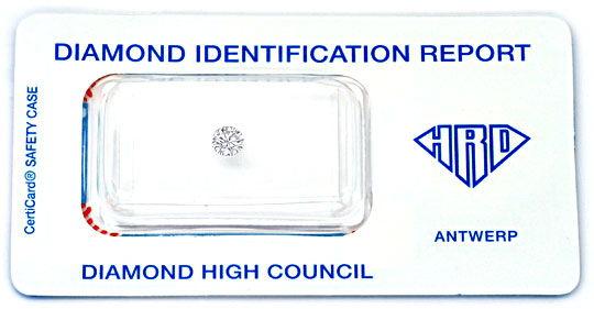 Foto 1, Diamant 0,25 Brillant HRD River Hochfeines Weiss Juwel!, D5020