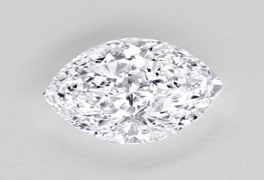 Foto 1, Diamant 0,66 Marquise Navette Schliff, DPL River Juwel!, D5021