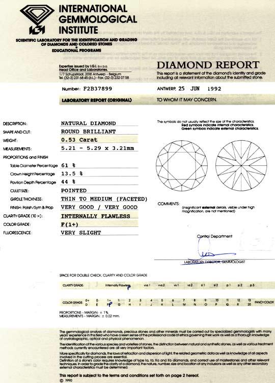 Foto 9, Diamant 0,53 IGI Lupenrein Top Wesselton F VG VG Juwel!, D5024