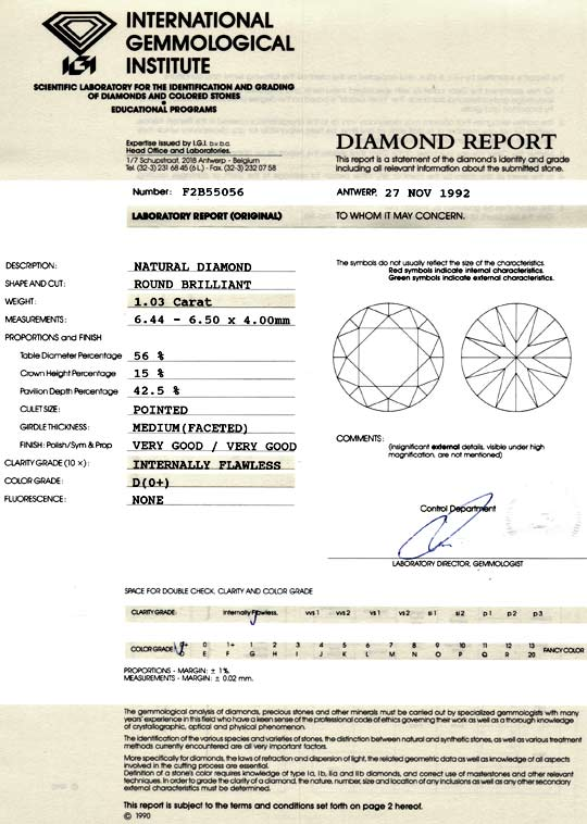 Foto 9, Best Einkaraeter Diamant 1,03 River D Lupenrein Diamond, D5027