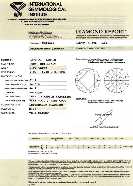Foto 9, Bester Brillant 0,9 River D Lupenrein IGI VG VG Diamond, D5028
