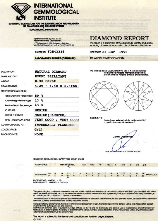 Foto 9, Diamant 0,3ct Brillant IGI G Lupenrein Very Good Juwel!, D5029