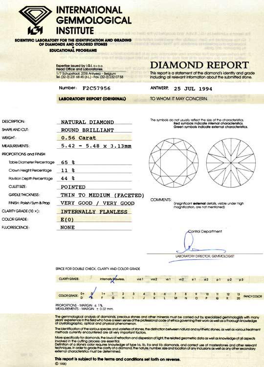 Foto 9, Diamant 0,56 ct Halbkaraeter IGI Lupenrein River Juwel!, D5038