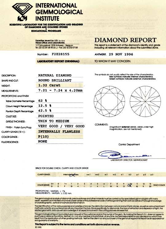 Foto 9, Diamant 1,32 Brillant IGI Lupenrein 1A Feuer VG Diamond, D5042