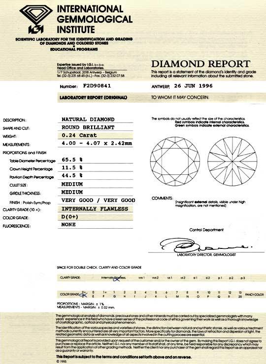 Foto 9, Diamant 0,24ct Brillant IGI Lupenrein River D VG Juwel!, D5043