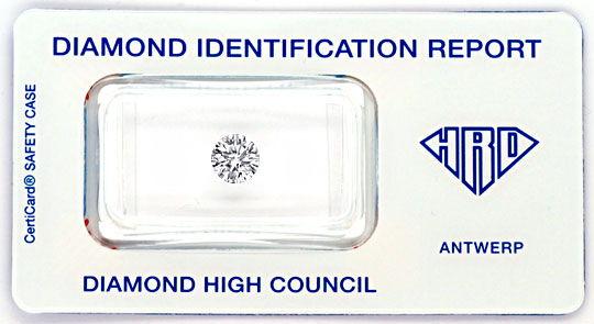 Foto 1, Diamant 0,85 Brillant HRD Lupenrein River VG VG Diamond, D5044