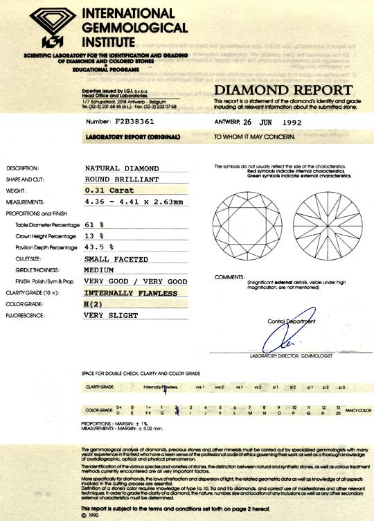 Foto 9 - Diamant 0,31ct Brilliant IGI Lupenrein Wesselton Juwel!, D5045