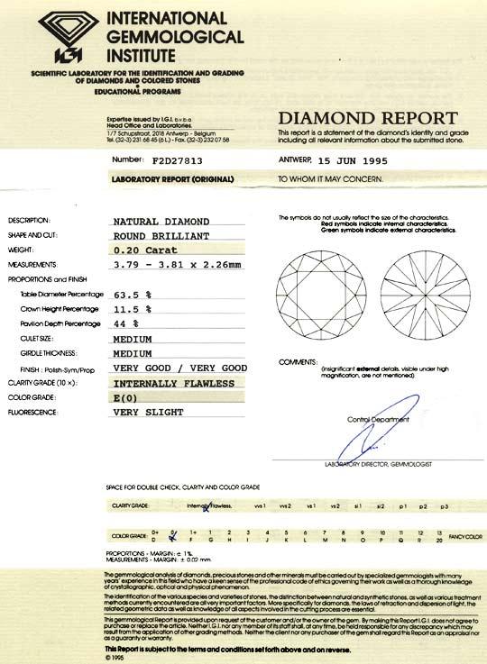 Foto 9 - Diamant 0,2ct Brillant IGI Lupenrein River VG VG Juwel!, D5046