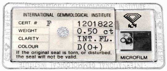 Foto 1 - Best Diamant 0,50 River D Lupenrein IGI Brillant Juwel!, D5050