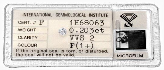 Foto 1 - Diamant 0,20ct Brillant IGI Top Wesselton Plus VVS Shop, D5052