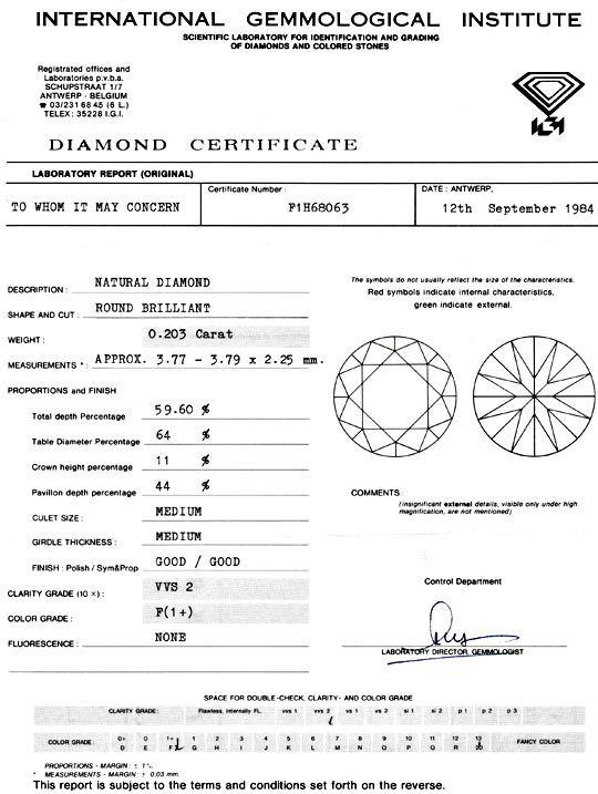 Foto 9 - Diamant 0,20ct Brillant IGI Top Wesselton Plus VVS Shop, D5052