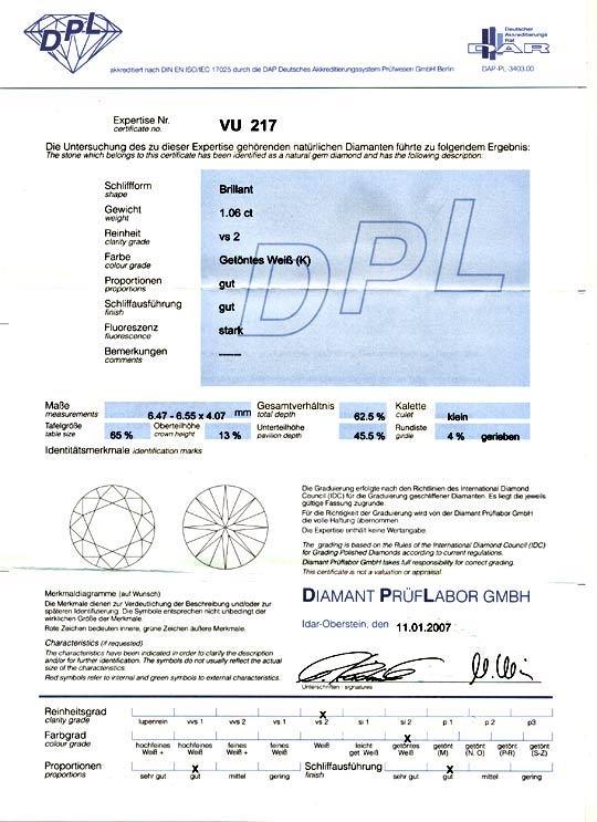 Foto 9 - Diamant 1,06 Carat Brilliant DPL, Einkaräter VS2 Juwel!, D5055