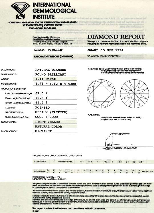 Foto 9 - Diamant 1,14 Brillant IGI Gutachten Light Yellow Juwel!, D5057