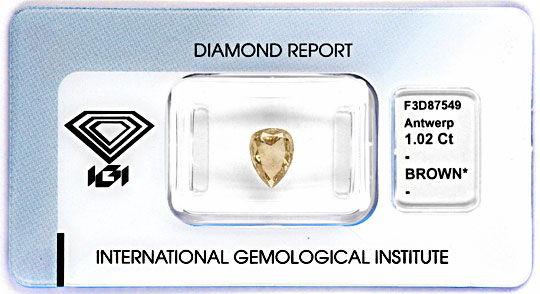 Foto 1 - Diamant 1,02ct Tropfen Birnkern Schliff Pear Cut Juwel!, D5058