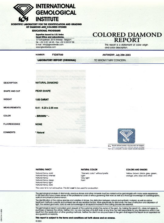 Foto 9 - Diamant 1,02ct Tropfen Birnkern Schliff Pear Cut Juwel!, D5058