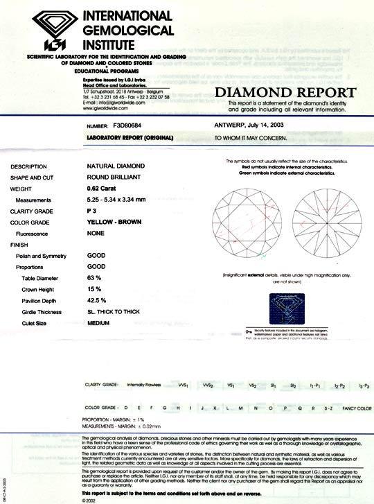 Foto 9 - Diamant 0,62 ct Brilliant IGI Natural Yellow Brown Shop, D5059