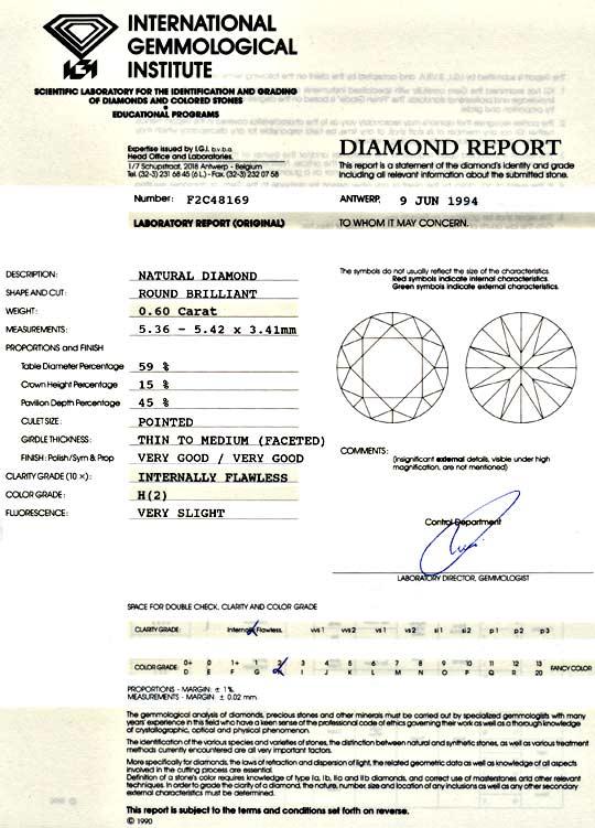 Foto 9 - Diamant 0,60ct Brilliant IGI Lupenrein Wesselton Juwel!, D5060