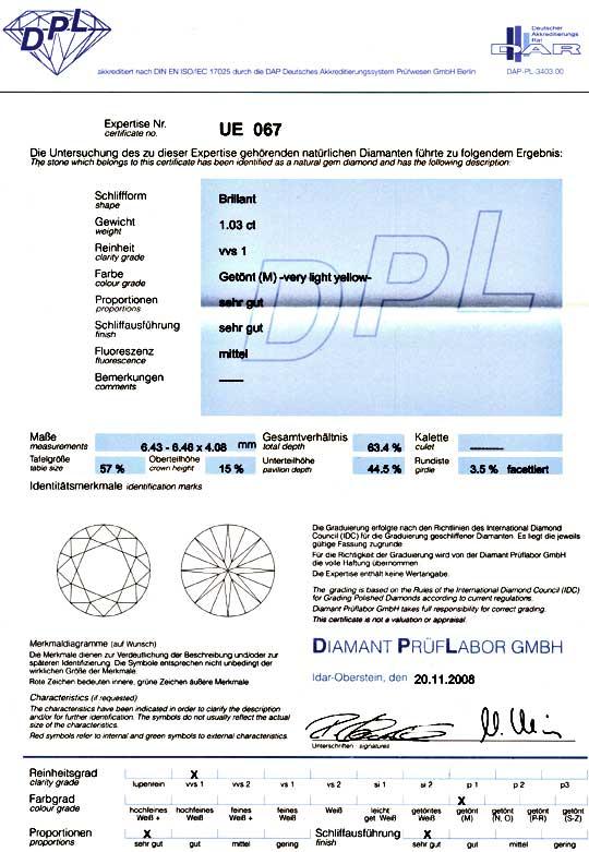 Foto 9 - Diamant 1,03Carat DPL fast Weiss fast Lupenrein Diamond, D5064