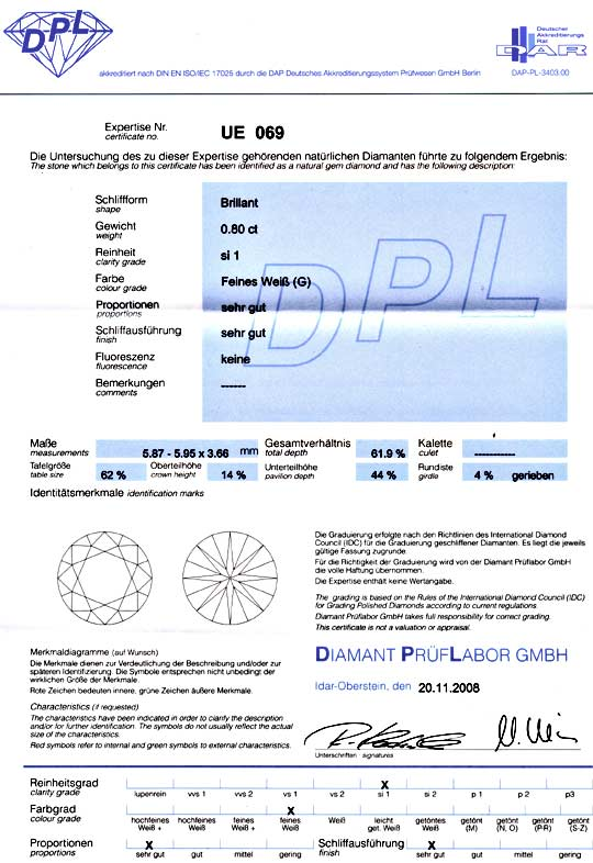 Foto 9 - Diamant 0,80ct Brillant DPL Top Wesselton SI1 VG Juwel!, D5065