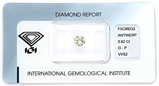 Foto 1 - Diamant 0,62 Brillant Brilliant IGI VVS 1A Feuer Juwel!, D5071