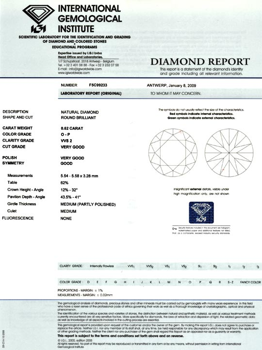 Foto 9 - Diamant 0,62 Brillant Brilliant IGI VVS 1A Feuer Juwel!, D5071