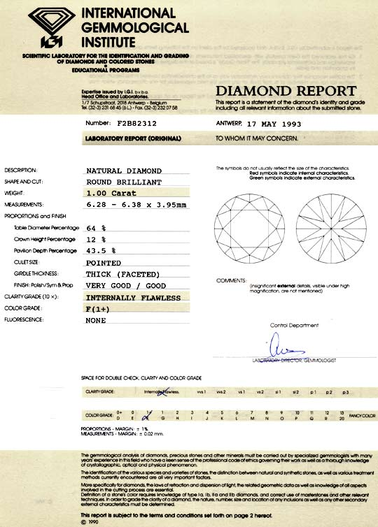Foto 9, 1,0ct Brillant IGI Lupenrein Top Wesselton Plus Diamond, D5072
