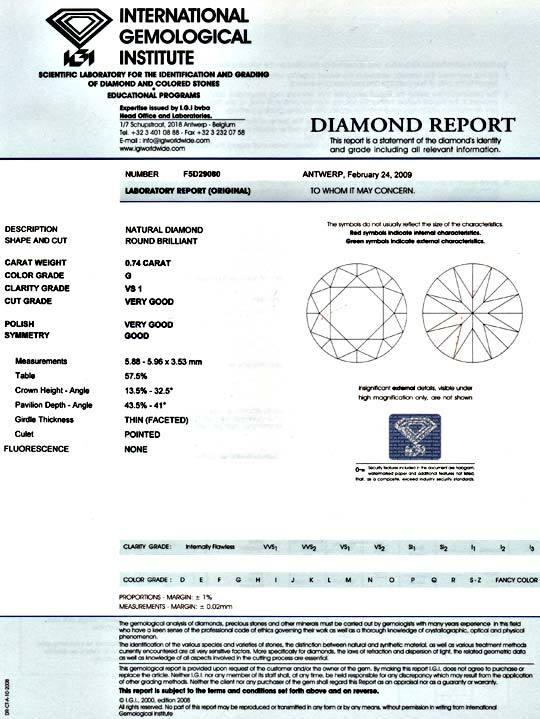 Foto 9 - Diamant 0,74 Carat Brillant IGI feines Weiss VS1 Juwel!, D5076
