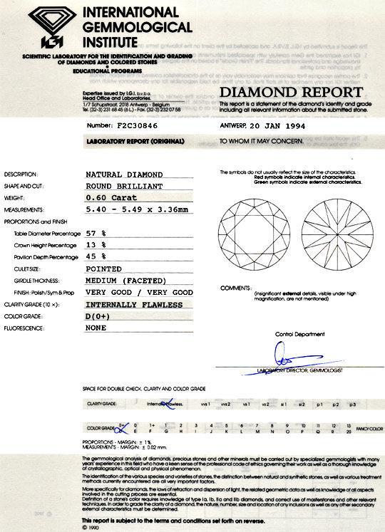 Foto 9 - Der Beste Diamant 0,6ct IGI Lupenrein River VGVG Juwel!, D5077