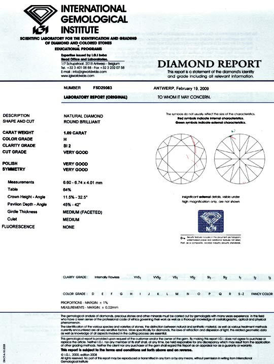 Foto 9 - Einkaräter 1,09 ct Diamant IGI Brillant Weiss SI Juwel!, D5081