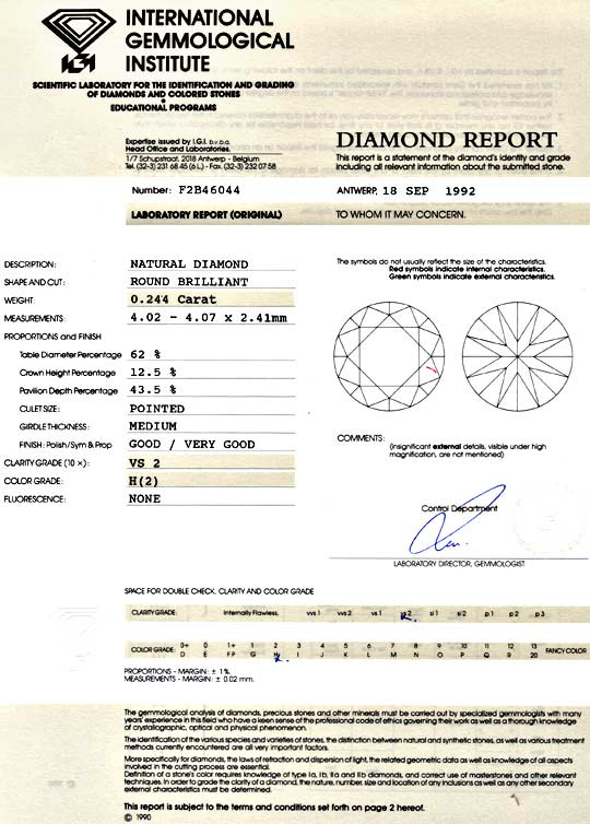Foto 9 - Diamant 0,244ct Brillant IGI VS2 Wesselton Weiss Juwel!, D5084