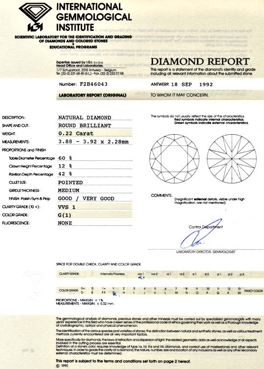 Foto 9 - Diamant 0,22 ct Brilliant IGI VVS1 Top Wesselton Juwel!, D5087