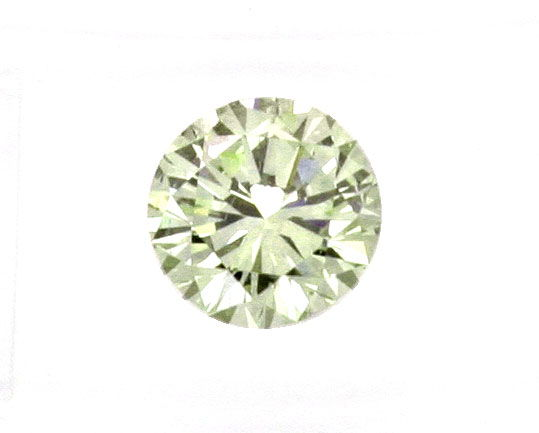 Foto 2, Diamant 1,59ct Olive Hellgrün Brillant VVS2 IGI Diamond, D5088