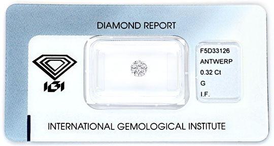 Foto 1 - Diamant 0,32ct Top Wesselton Lupenrein IGI VG VG Juwel!, D5091