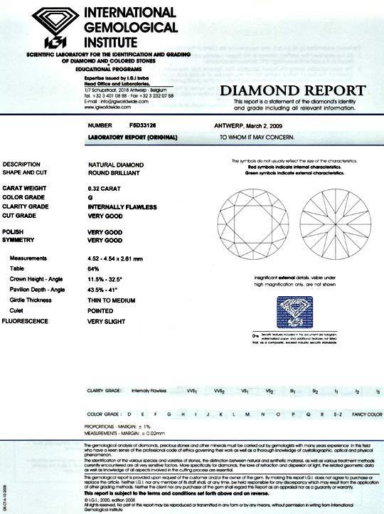 Foto 9 - Diamant 0,32ct Top Wesselton Lupenrein IGI VG VG Juwel!, D5091