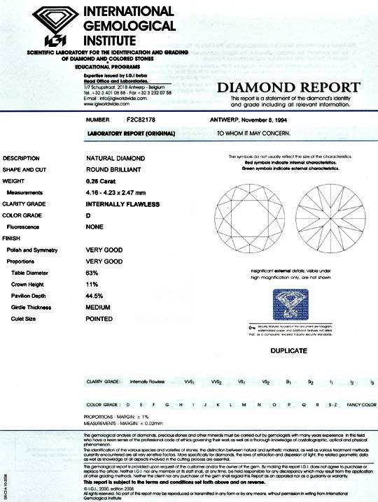 Foto 9 - Bester Diamant 0,26 Brillant IGI Lupenrein River Juwel!, D5092