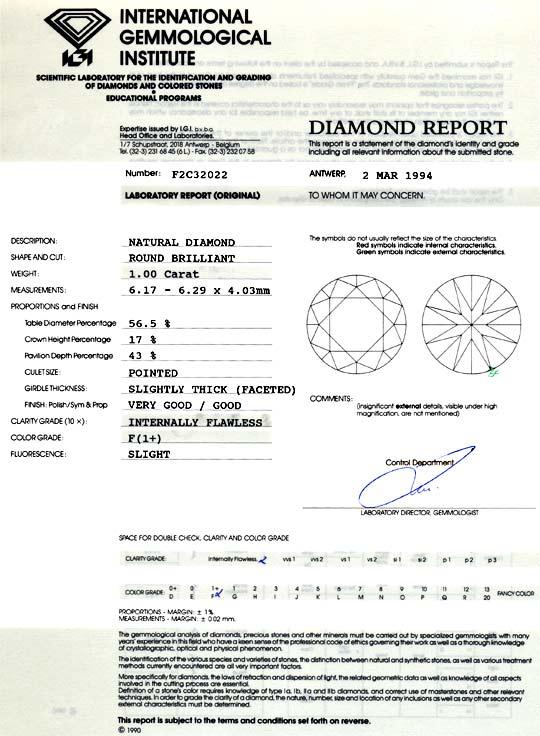 Foto 9 - Einkaräter Brillant IGI Lupenrein Top Wesselton Diamond, D5094