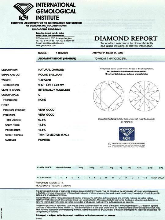 Foto 9 - Einkaräter Top Wesselton Lupenrein IGI sehr gut Diamond, D5096