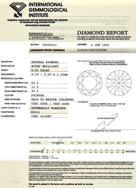 Foto 9 - Der Beste Diamant ! 0,51ct IGI Lupenrein River D Juwel!, D5099