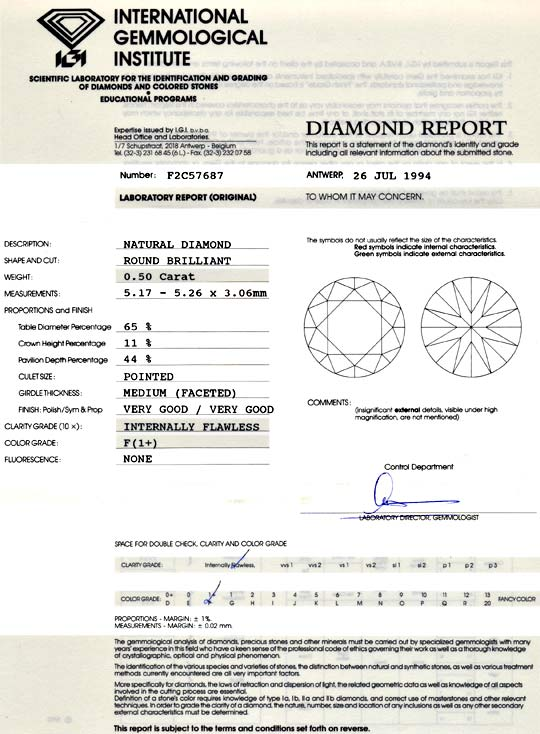 Foto 9 - Diamant 0,5ct IGI Lupenrein Top Wesselton Plus F Juwel!, D5100