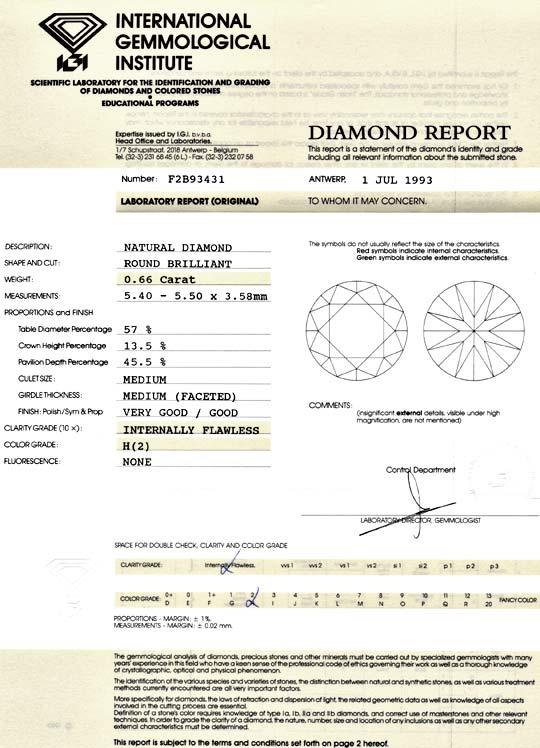 Foto 9 - Diamant 0,66ct Brilliant IGI Lupenrein Wesselton Juwel!, D5101