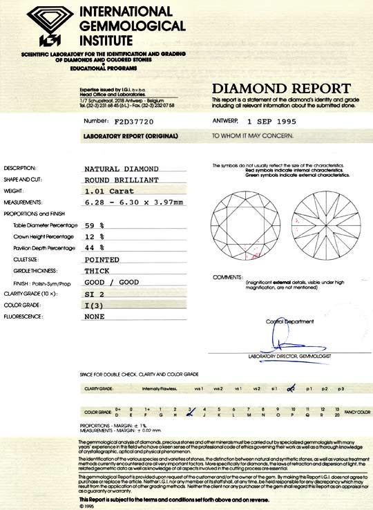 Foto 9 - Einkaräter Diamant 1,01ct Brillant IGI I SI 2Gut Juwel!, D5105