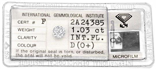 Foto 1 - Bester Einkaräter Diamant Lupenrein River D IGI Diamond, D5107