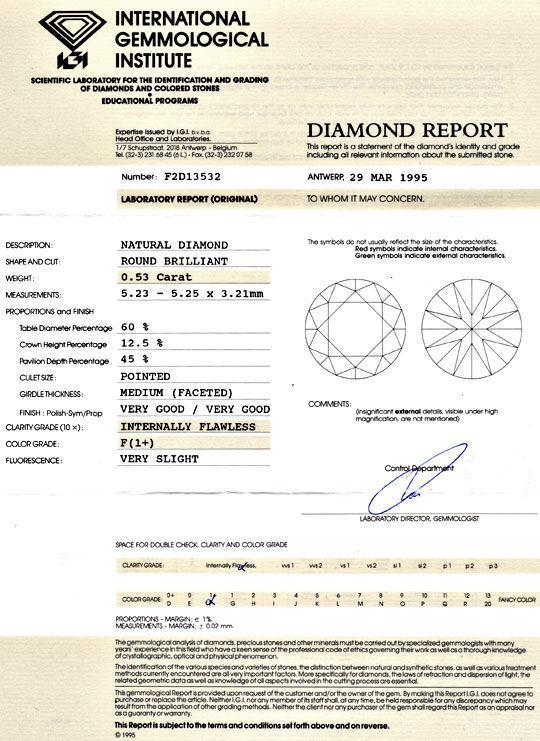 Foto 9 - Brillant 0,53ct IGI Lupenrein Top Wesselton Plus Juwel!, D5111