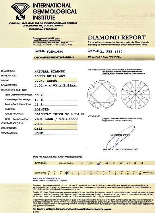Foto 9 - Diamant 0,247ct Brillant IGI Top Wesselton G VS1 Juwel!, D5115