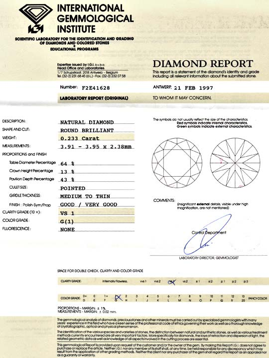 Foto 9 - Diamant 0,233ct Brillant IGI Top Wesselton G VS1 Juwel!, D5118