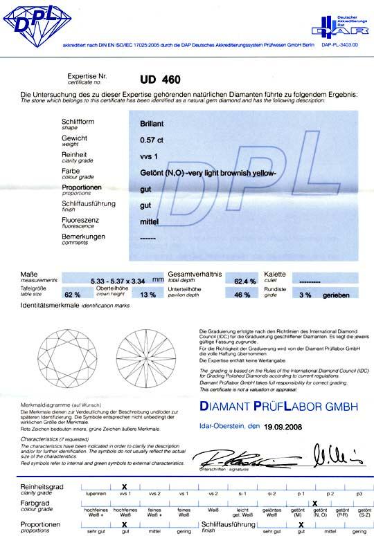 Foto 9 - Diamant 0,57Carat Brillant Brilliant DPL No VVS1 Juwel!, D5124