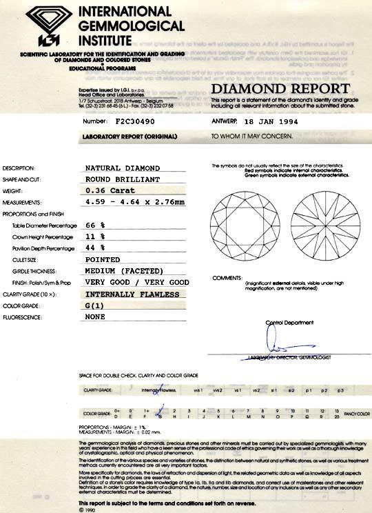 Foto 9 - Diamant 0,36ct Brillant IGI Lupenrein Top Wesselton 2VG, D5125